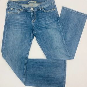 American Eagle Womens Jeans 14 Long Blue Boyfriend